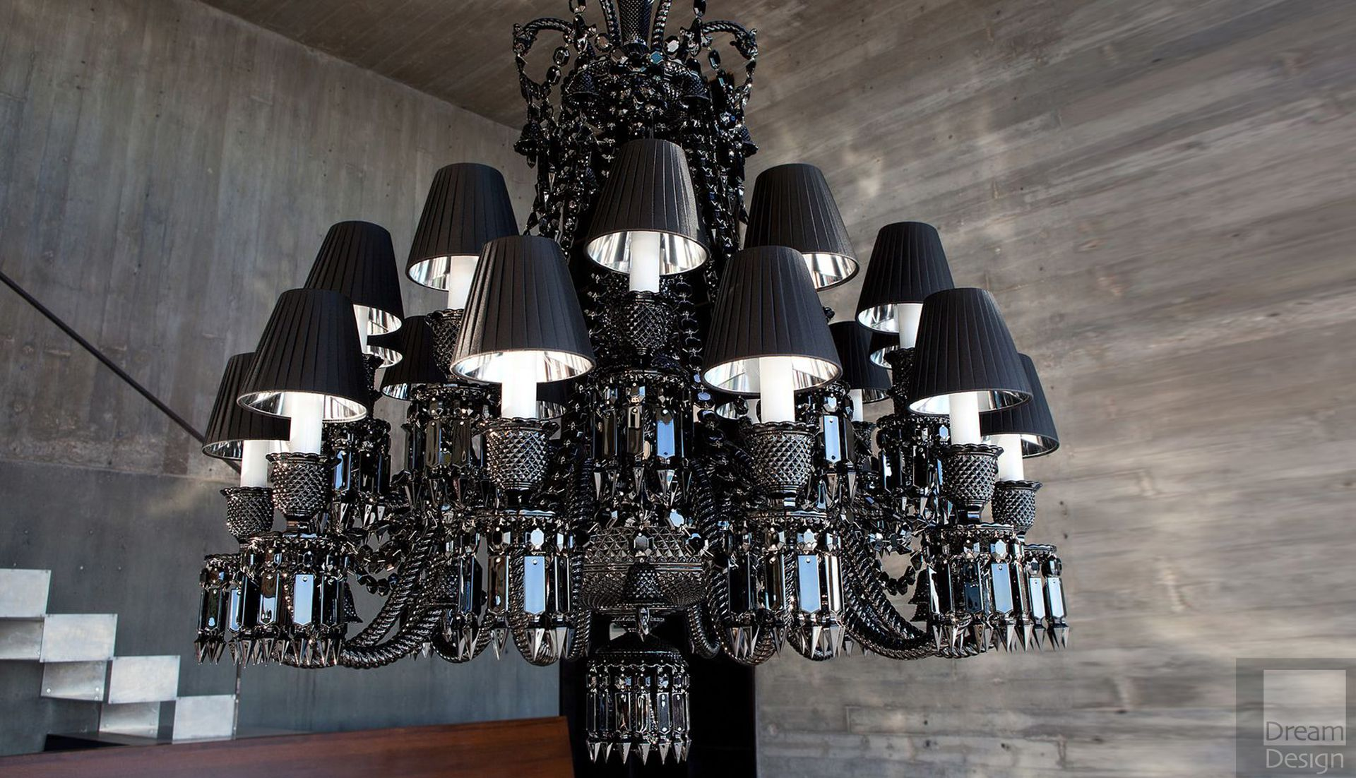 Baccarat zenith noir chandelier 24 lights everything but ordinary baccarat zenith noir chandelier arubaitofo Images