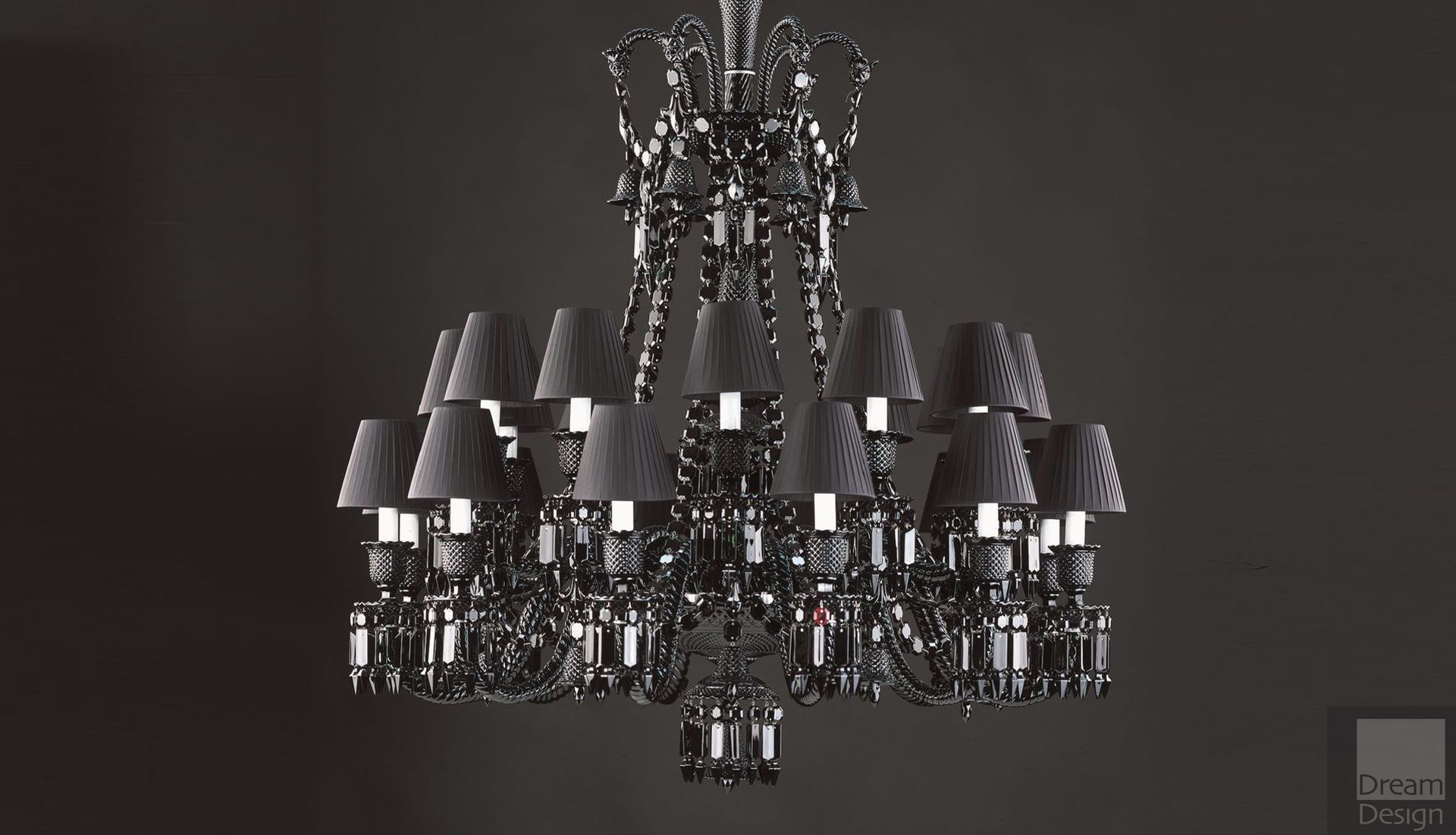 Baccarat Zenith Noir Chandelier (24 lights)