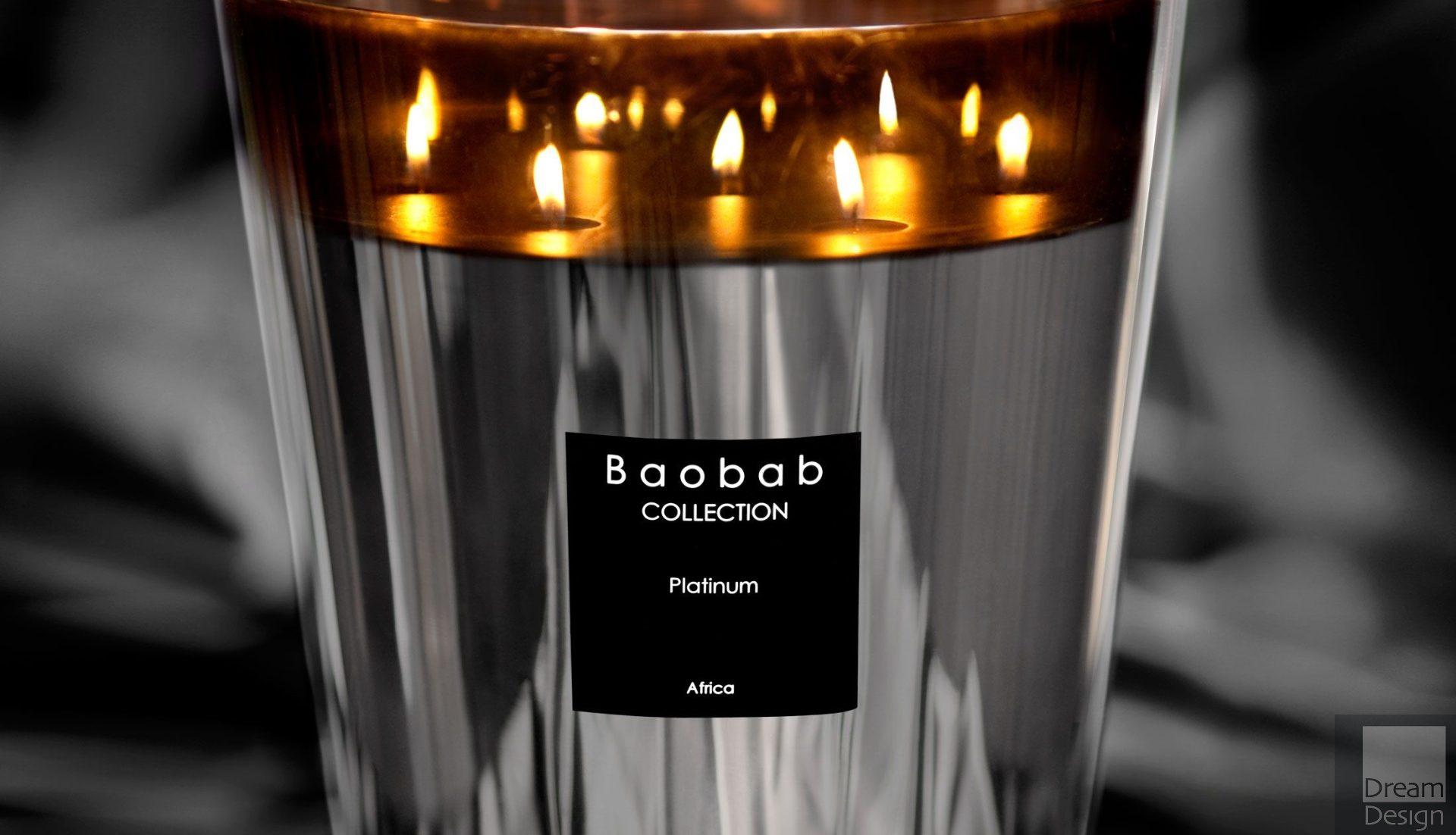 Baobab Platnium Scented Candle