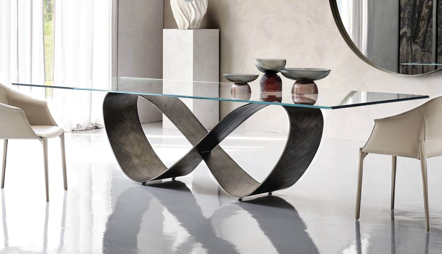 Cattelan Italia Butterfly Glass Table