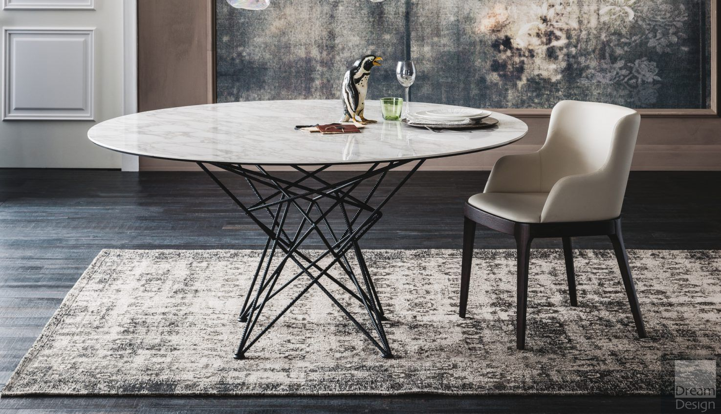 Cattelan Italia Gordon Keramik Round Dining Table