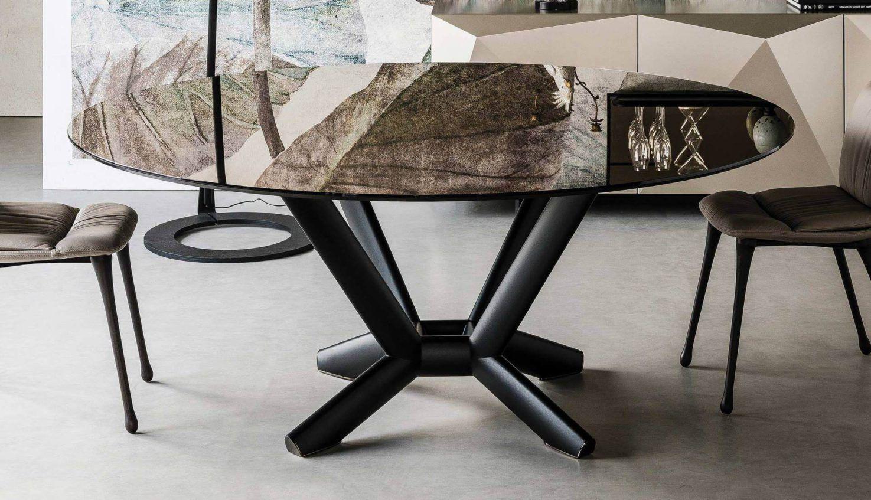 Cattelan Italia Planer Round Glass Table