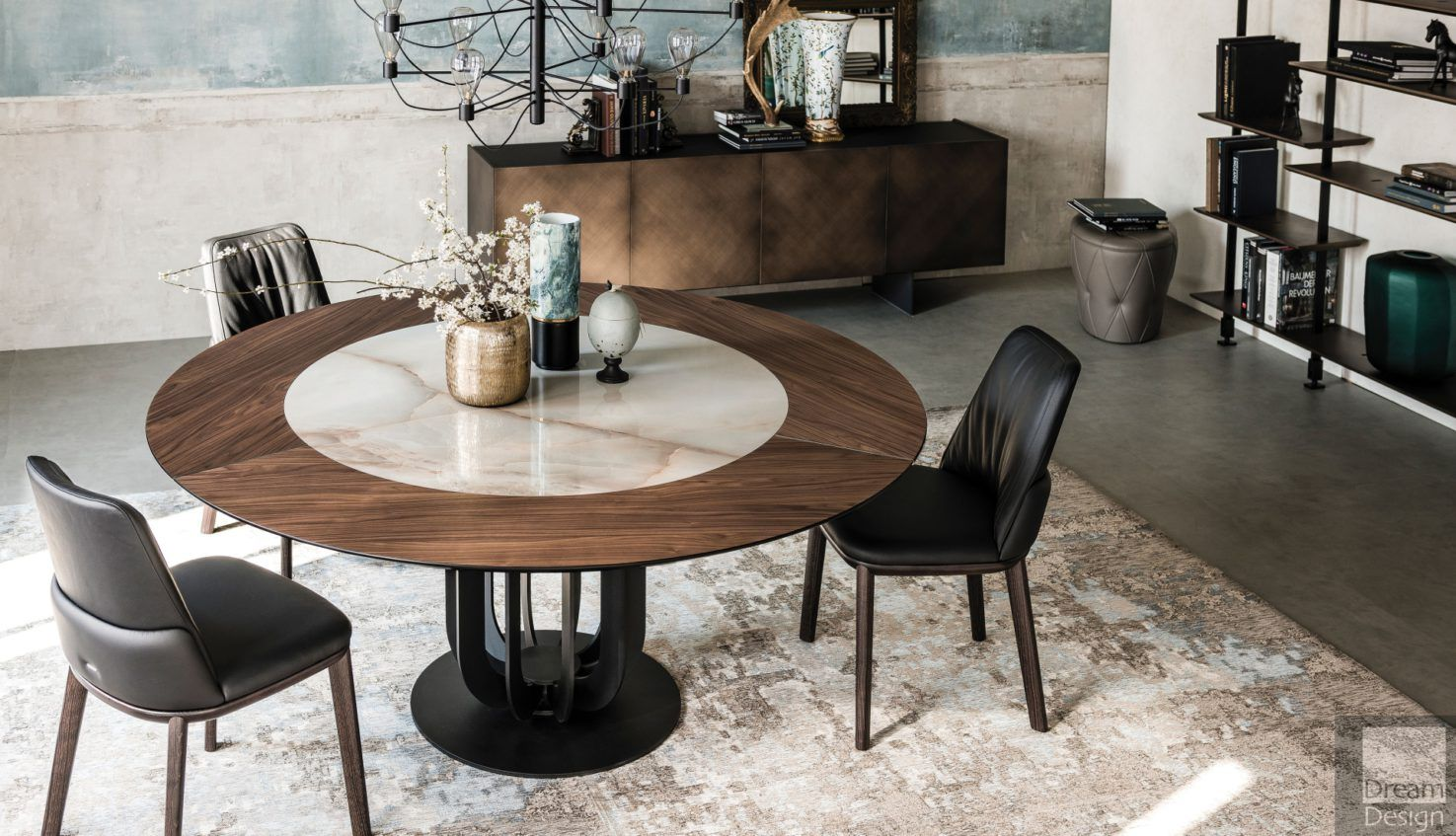Cattelan Italia Soho Ker-Wood Round Table