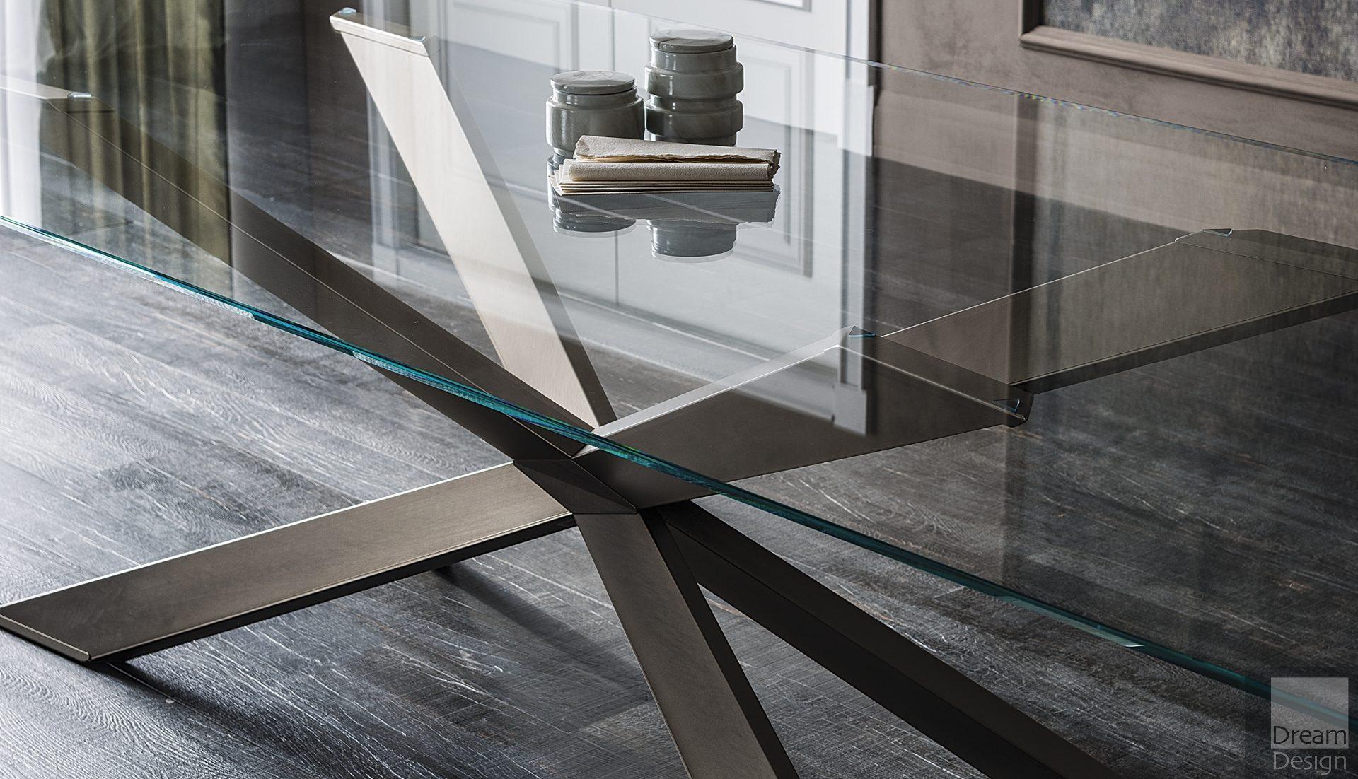 Cattelan Italia Spyder Glass Dining Table