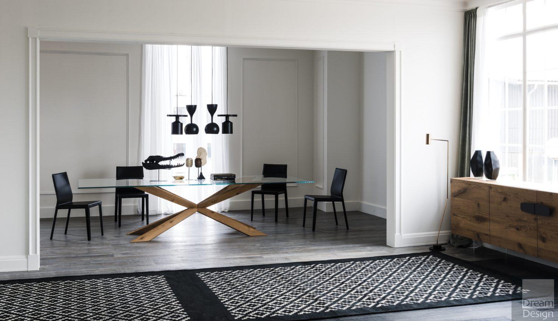 Cattelan Italia Spyder Glass Rectangular Table