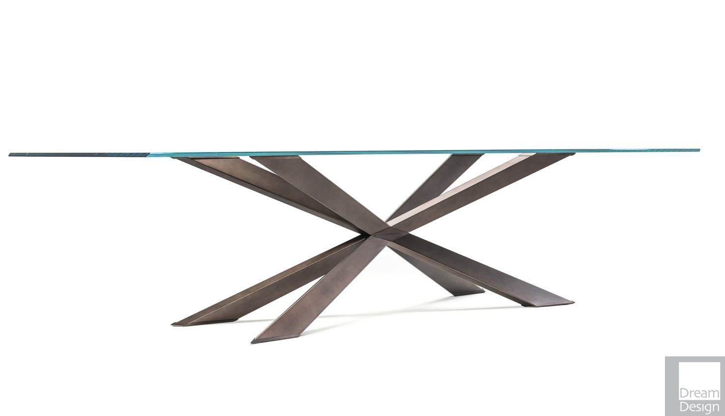 Cattelan Italia Spyder Glass Rectangular Table