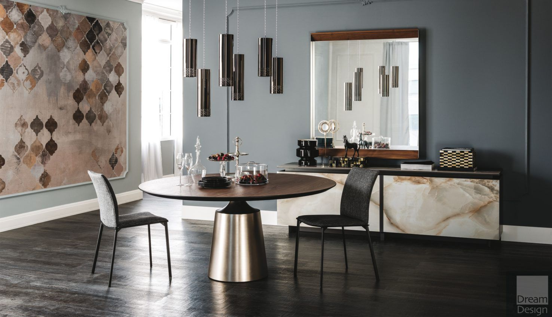 Cattelan Italia Yoda Wood Round Dining Table