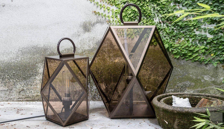 Contardi Muse Outdoor Lantern – Bronze