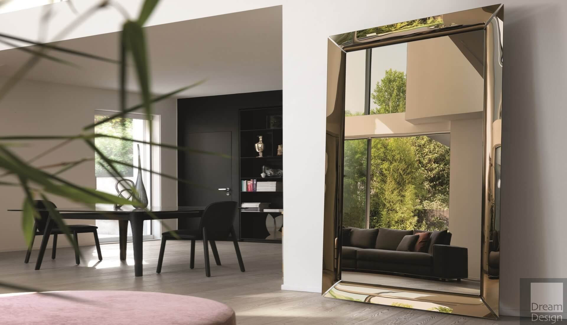 Fiam Caadre Mirror By Philippe Starck Bronze Edition