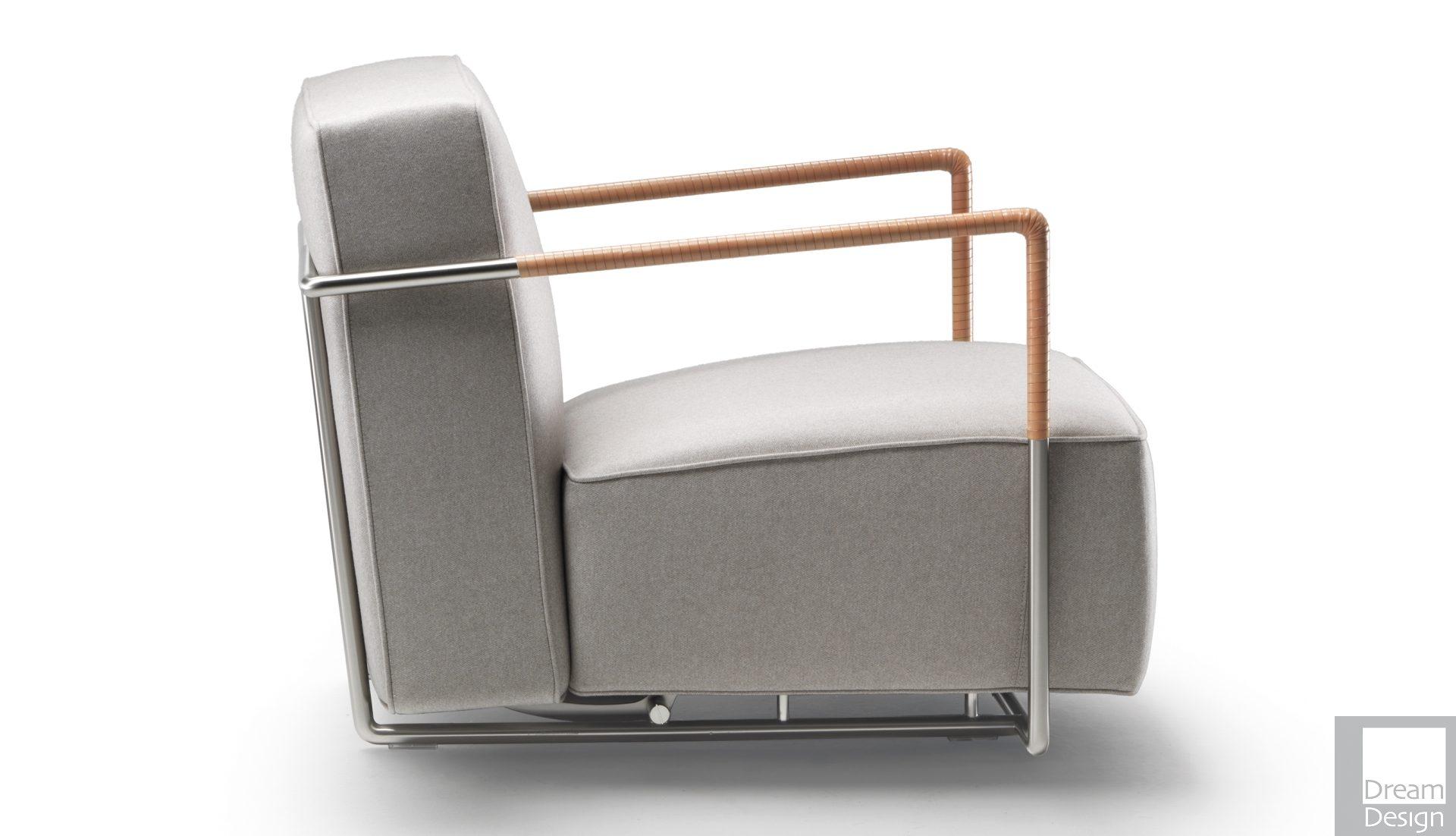 Flexform A.B.C Armchair – Leather Armrests
