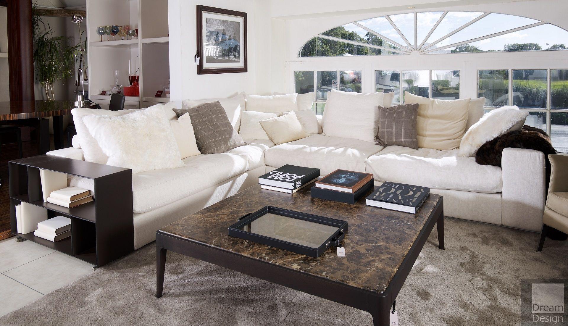 Flexform groundpiece ex display sofa everything but ordinary for Flexform groundpiece
