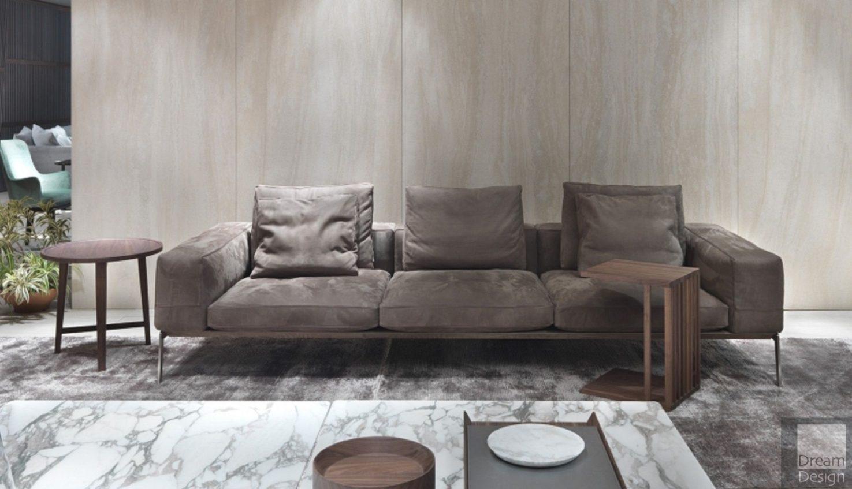 Flexform Lifesteel 3-Seater Sofa