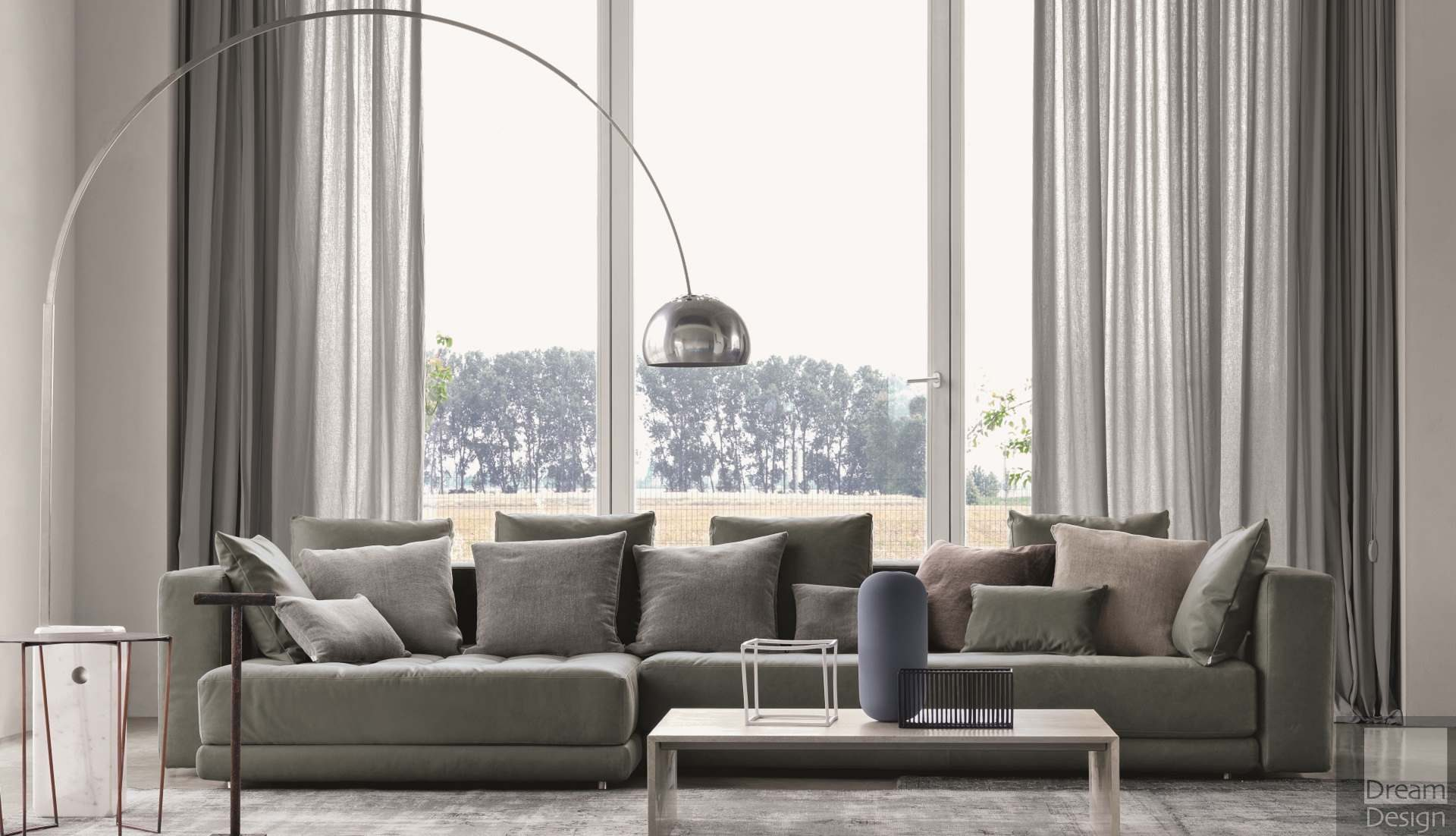 Flos Arco Floor Lamp designed by Achille and Pier Giacomo Castiglioni in 1962