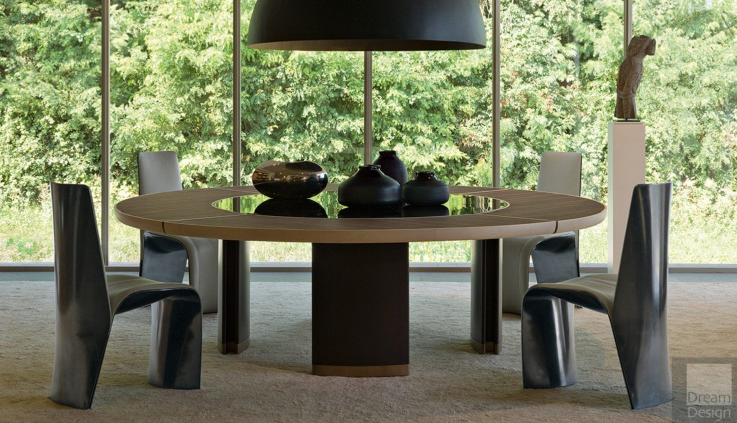 Giorgetti Gordon dining table with lazy susan