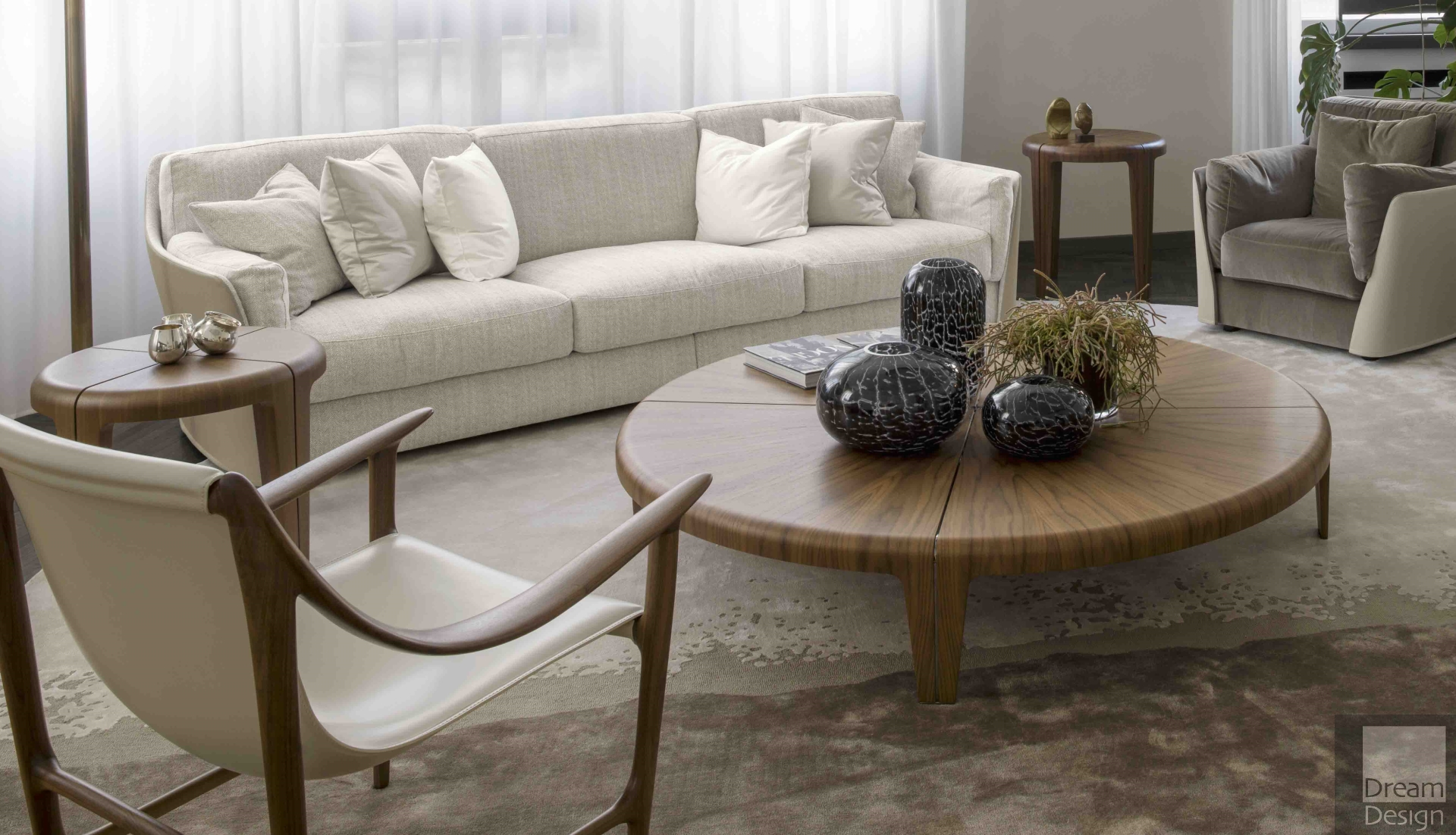 - Giorgetti Round Coffee Table By Carlo Colombo - Everything But