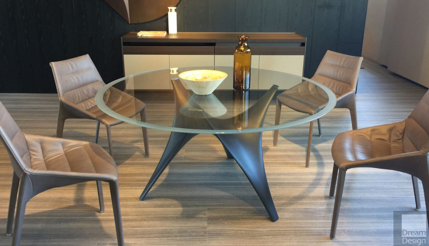 Molteni&C Arc Round Glass Table