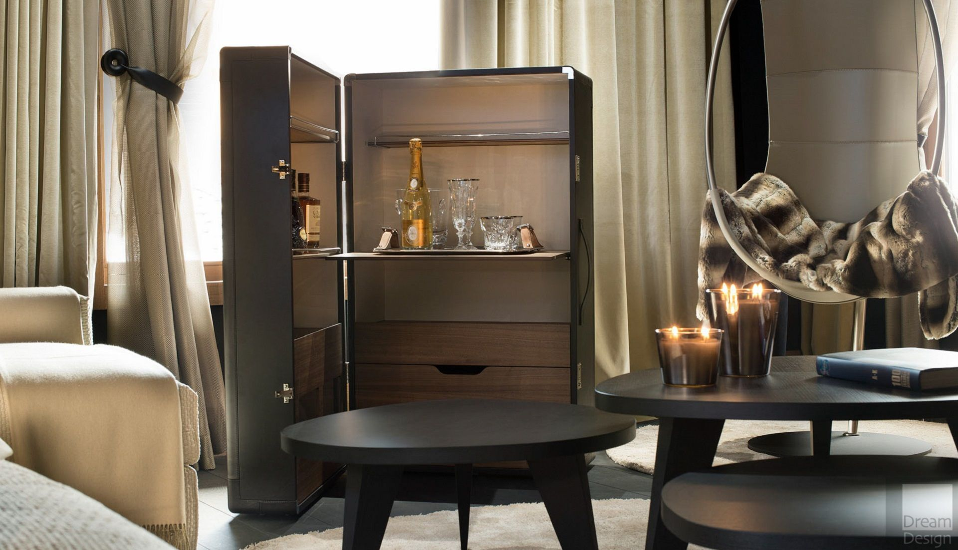 Poltrona Frau Isidoro Drinks Cabinet By Jean Marie Massaud