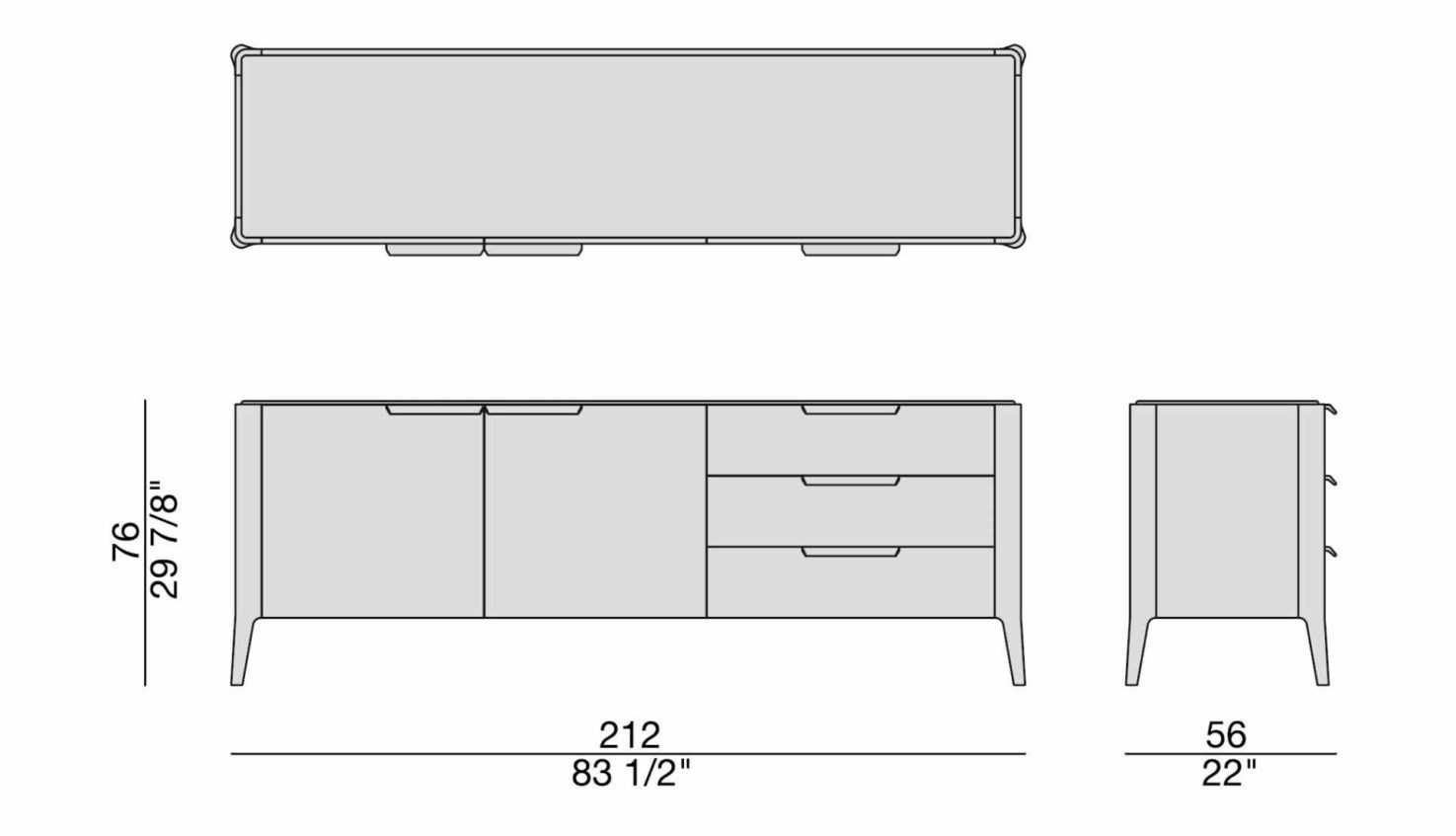 Porada Atlante 3 Sideboard