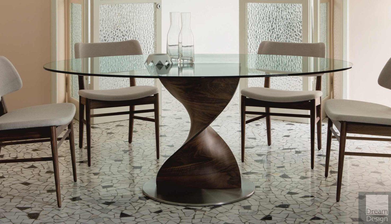 Elika Round Glass Table