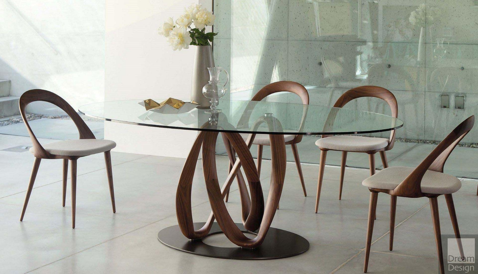Porada Infinity Elliptic Glass Table Everything But Ordinary