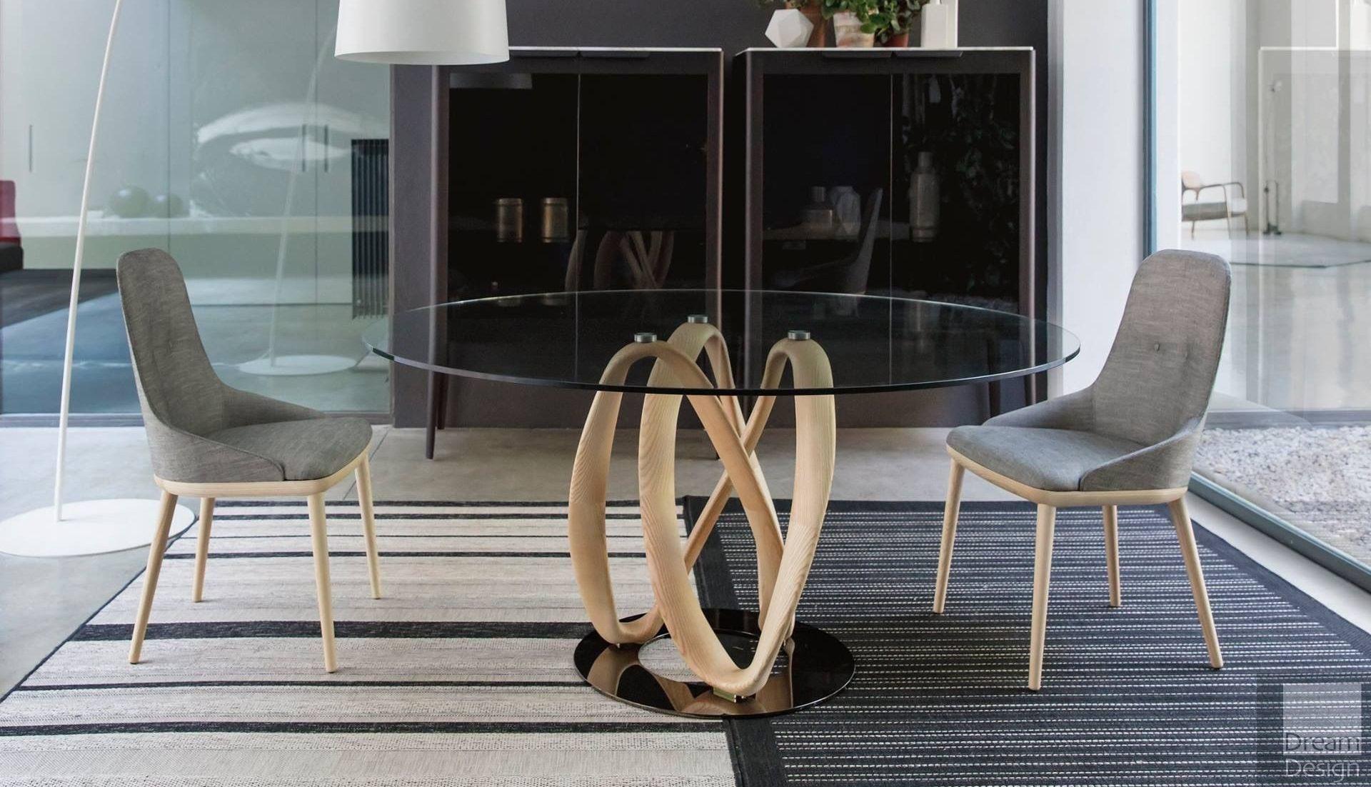 Porada Infinity Round Glass Table