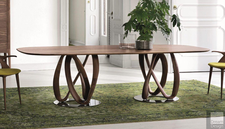 Infinity Oval 2 Base Wood Table