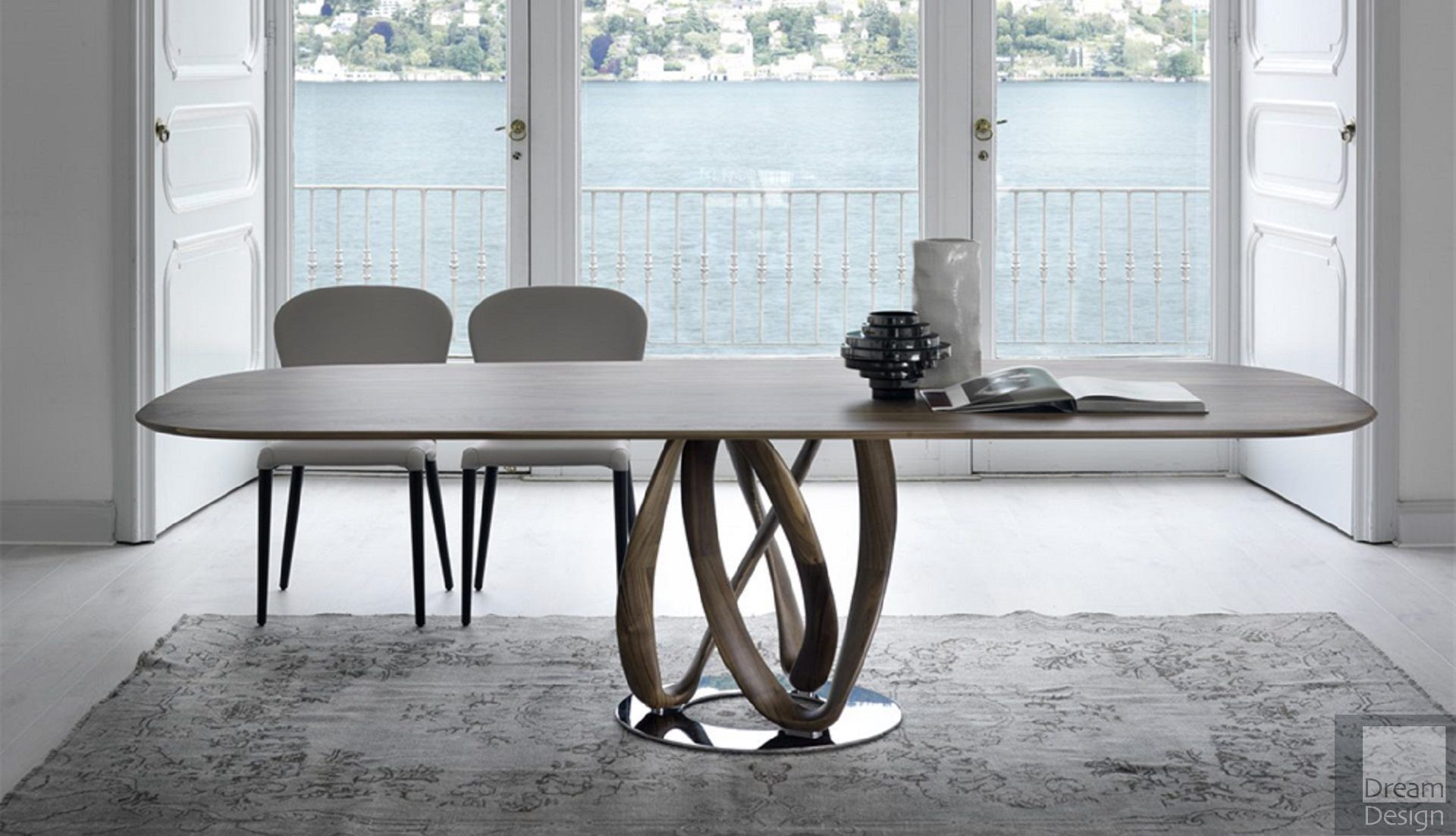 Porada Infinity Oval Wood Table