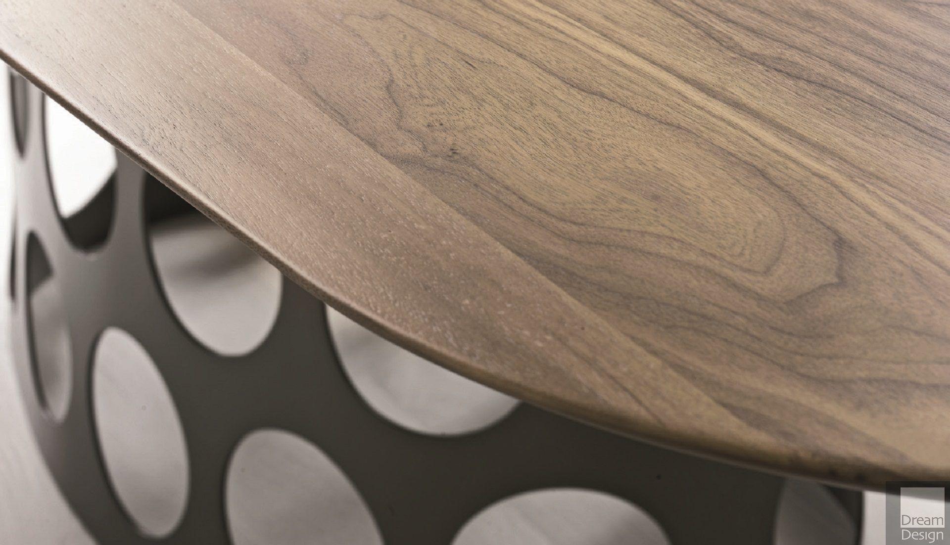 Porada Jean Barrel Wood Table