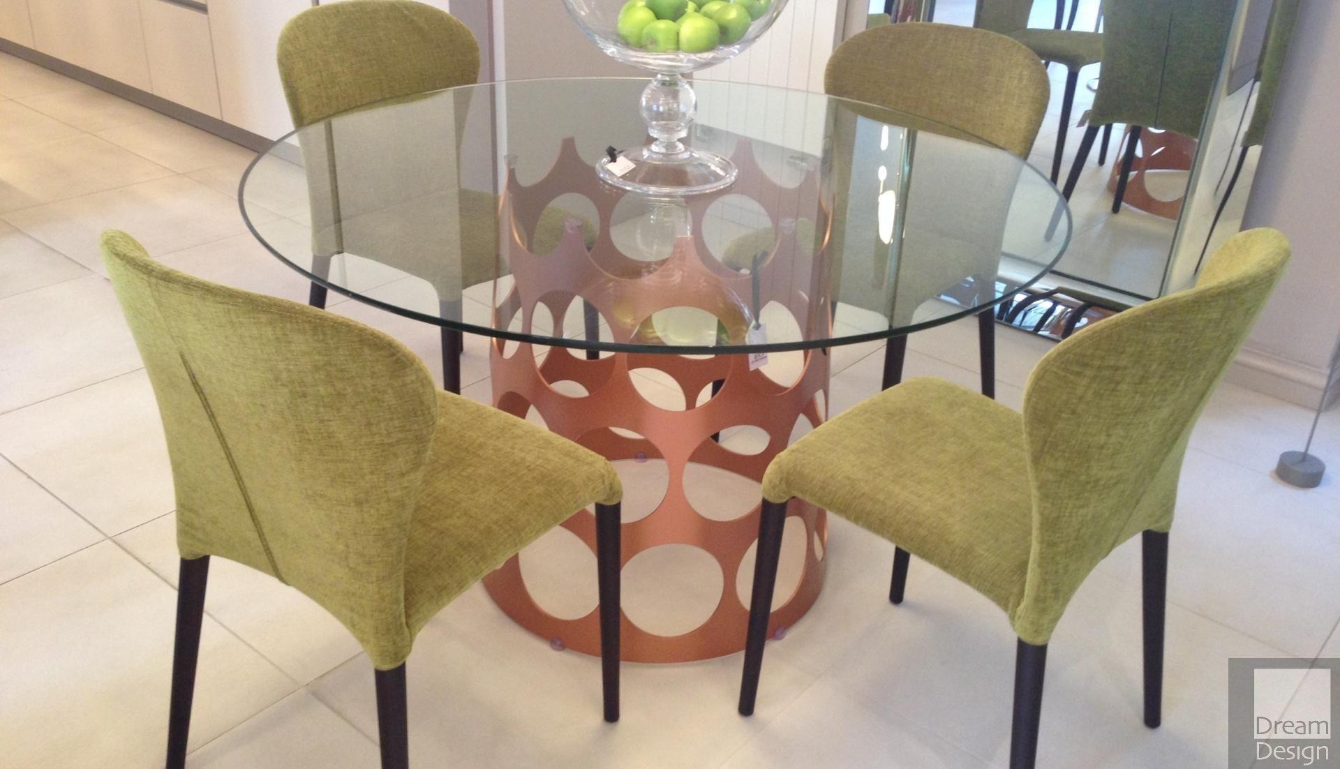 Porada Jean Round Glass Table Ex-Display