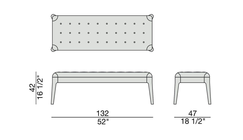 Porada Webby 1 Bench