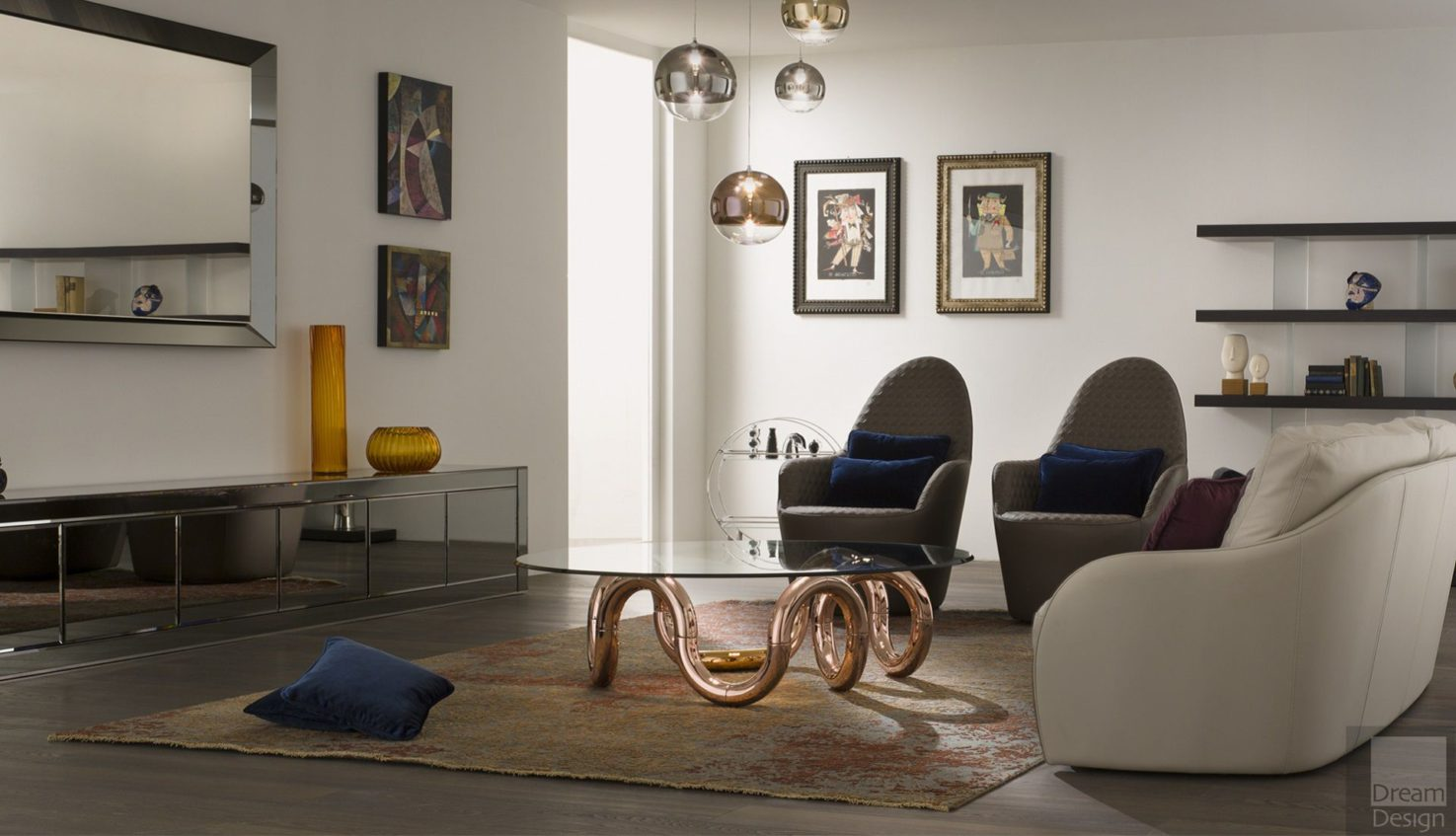 Reflex Angelo Aenigma 40 Rame Coffee Table