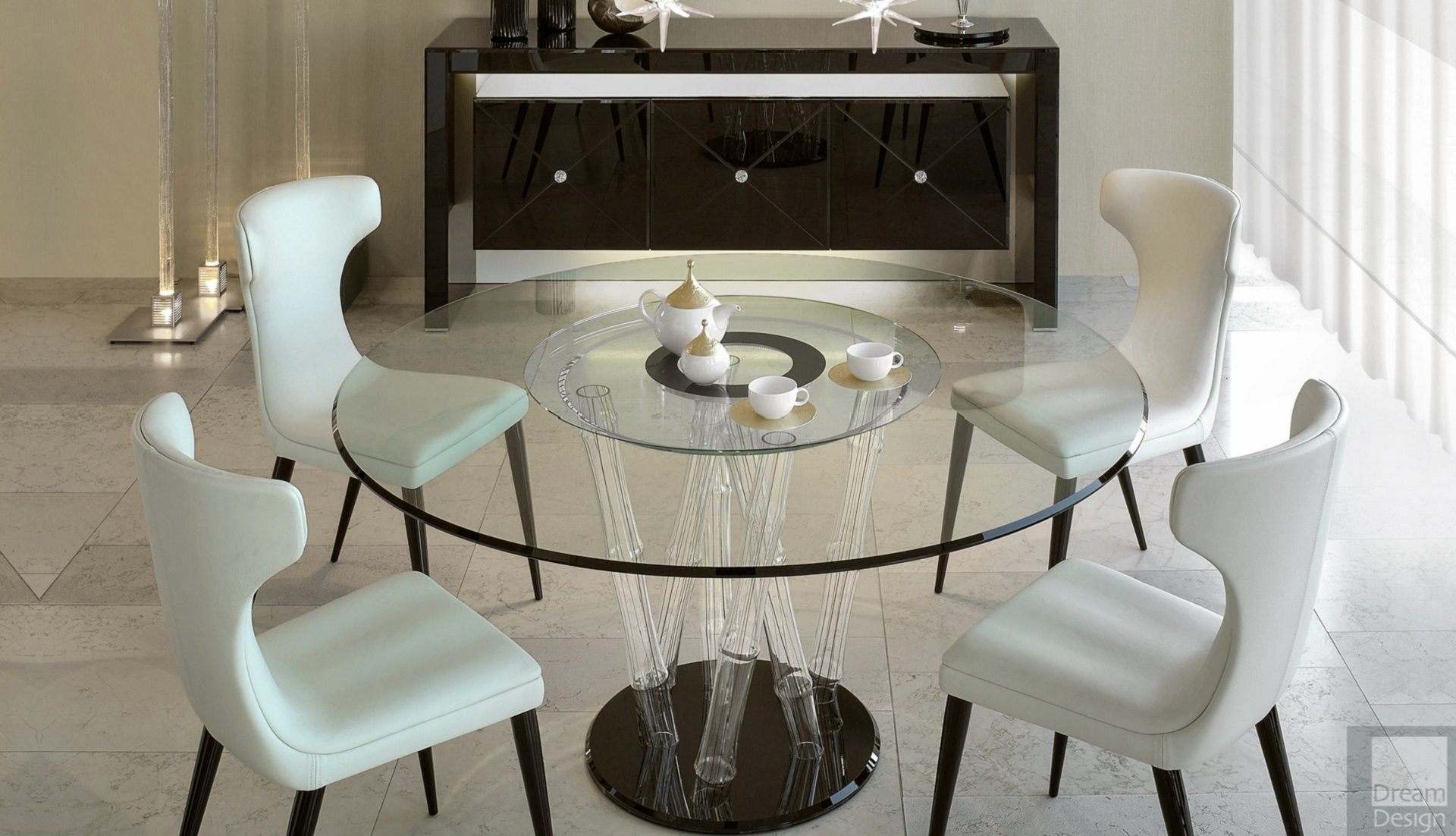 Reflex angelo bamboo 72 round dining table