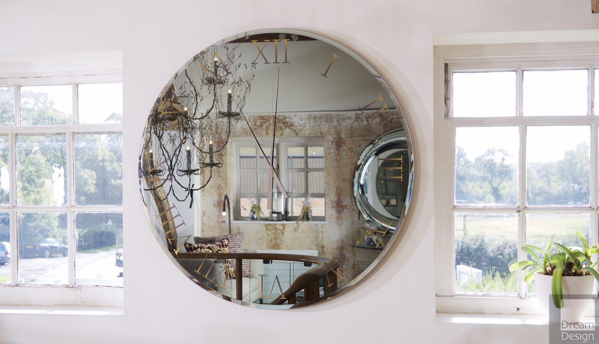 Reflex Angelo Titanium Round Mirror Clock